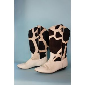 VTG 1980s Leather Cowhide Boots